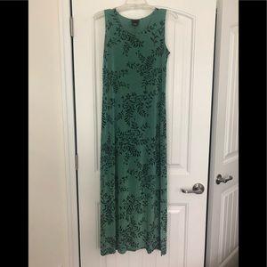 CitiKnits Green Fern Ivy Maxi Dress Size S Stretch